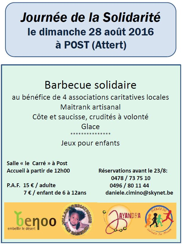 Feuillet invitation BBQ Post 2016